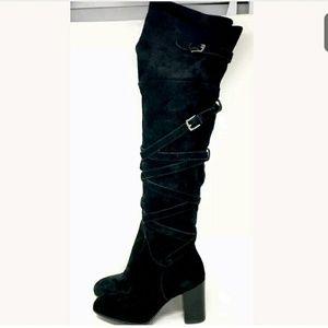 Sam Edelman Black OTK Boots Sable US 5